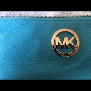 Michael Kors Turquoise Clutch